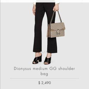 Dionysus medium GG shoulder bag, authentic, beige